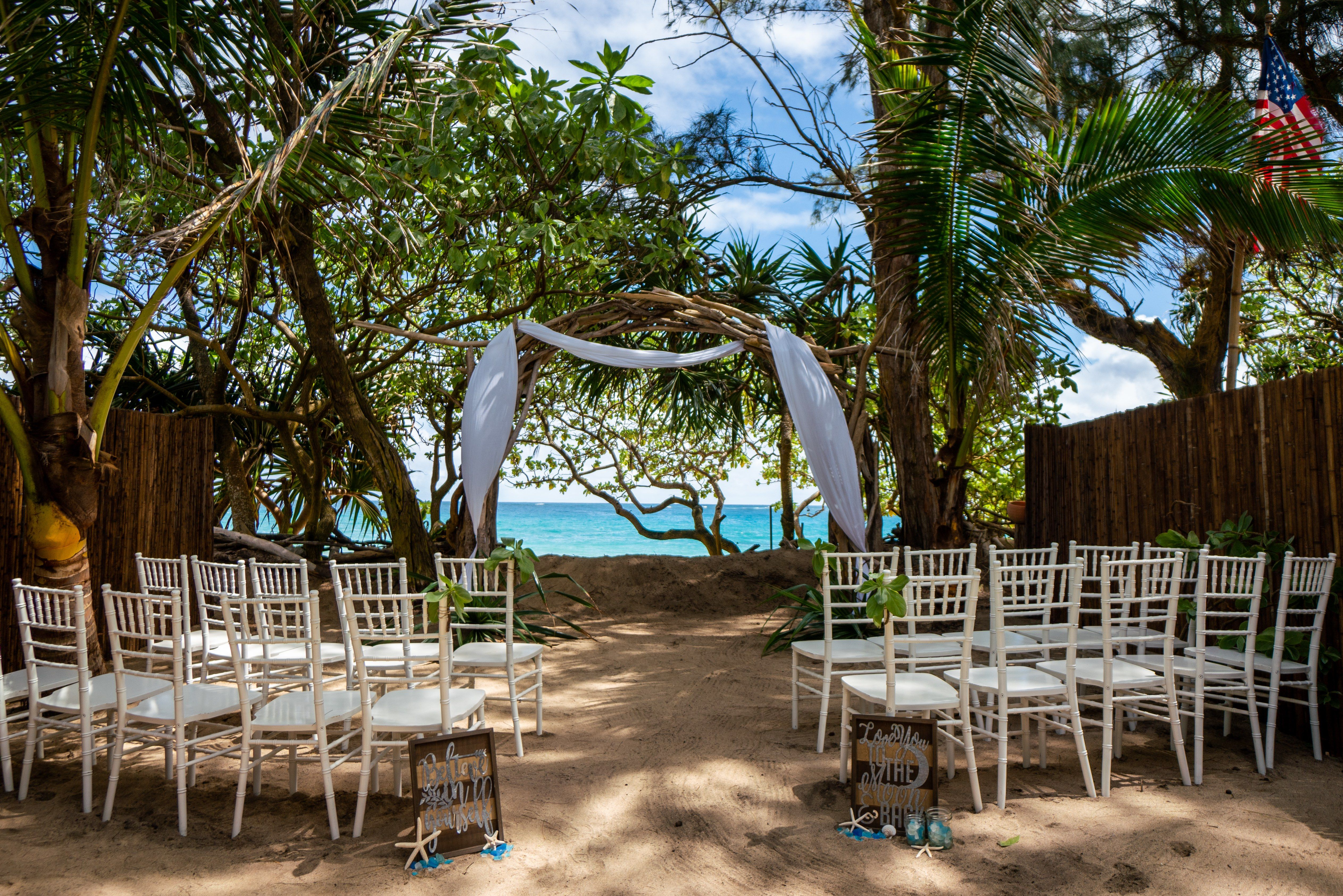 North Shore Laie Oahu Hawaii Wedding Venue Only 500 For Small