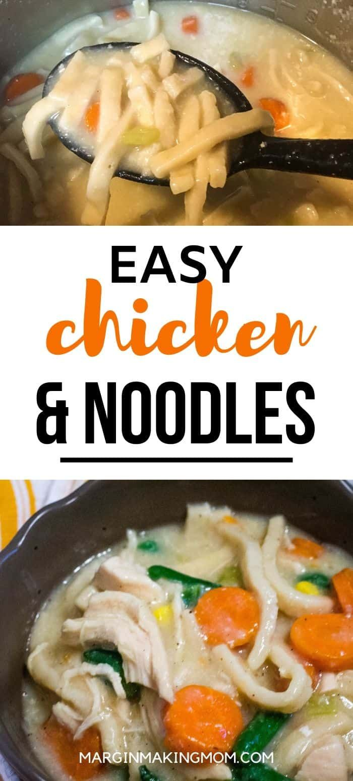 chicken and dumplings with noodles  recipe  easy chicken