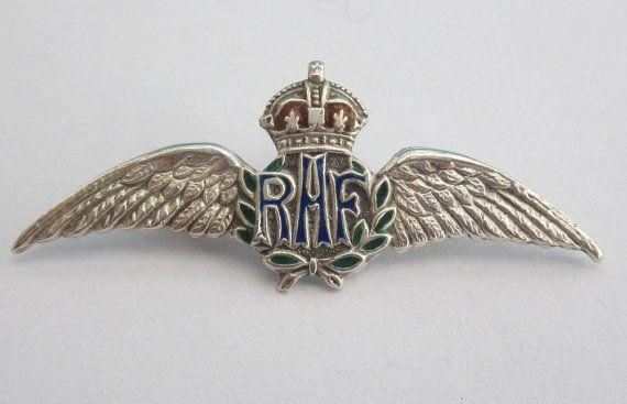 Original Vintage Ww1 Ww2 Raf Royal Air Force Sterling