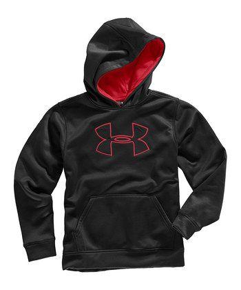 Youth Large Under Armour Boy's Armour Fleece Branded Hoody Royal White