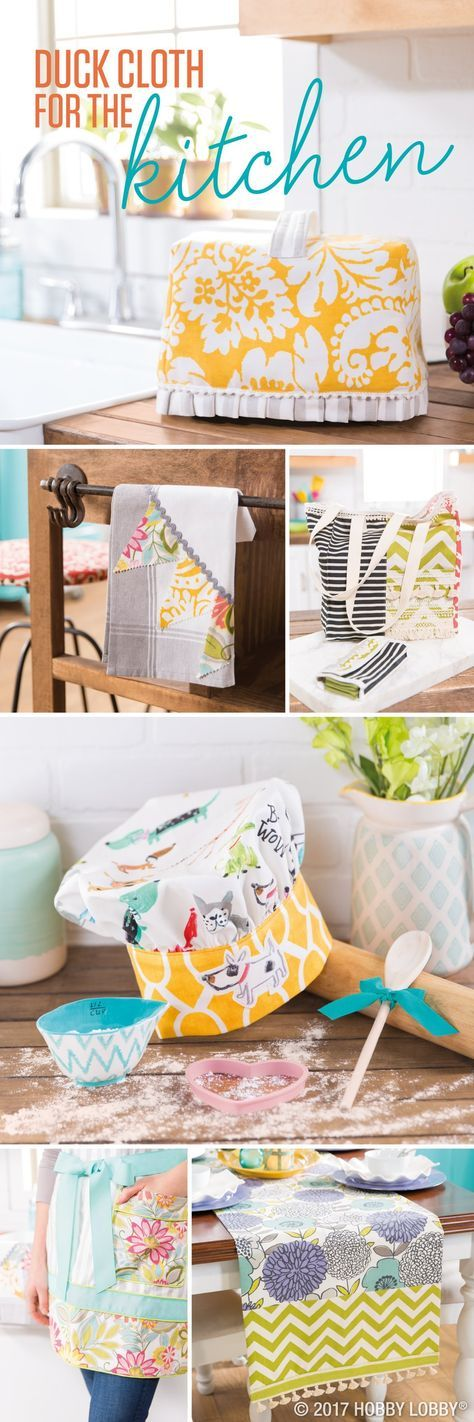 Whip up fabulous fabric kitchen DIYs with duck cloth! Beginner