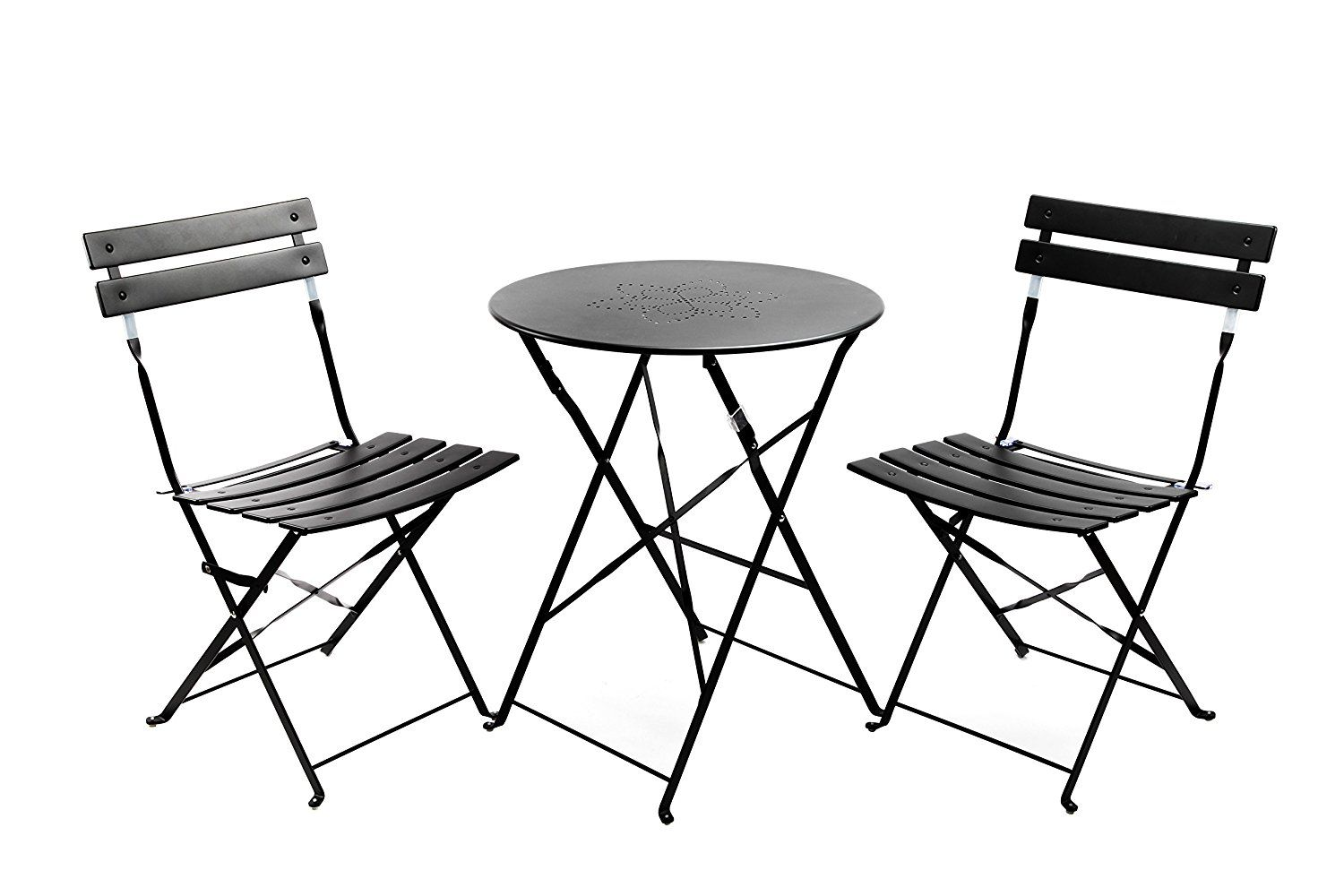 Amazon finnhomy slatted 3 piece outdoor patio furniture sets amazon finnhomy slatted 3 piece outdoor patio furniture sets bistro sets steel folding table and chair set with safe lock for indoors and outdoors watchthetrailerfo