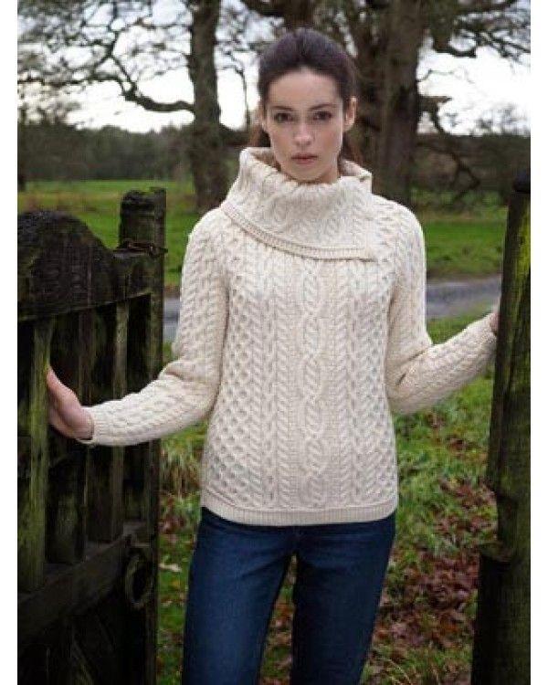 f35cb0209319 Aran Cowl Neck Sweater