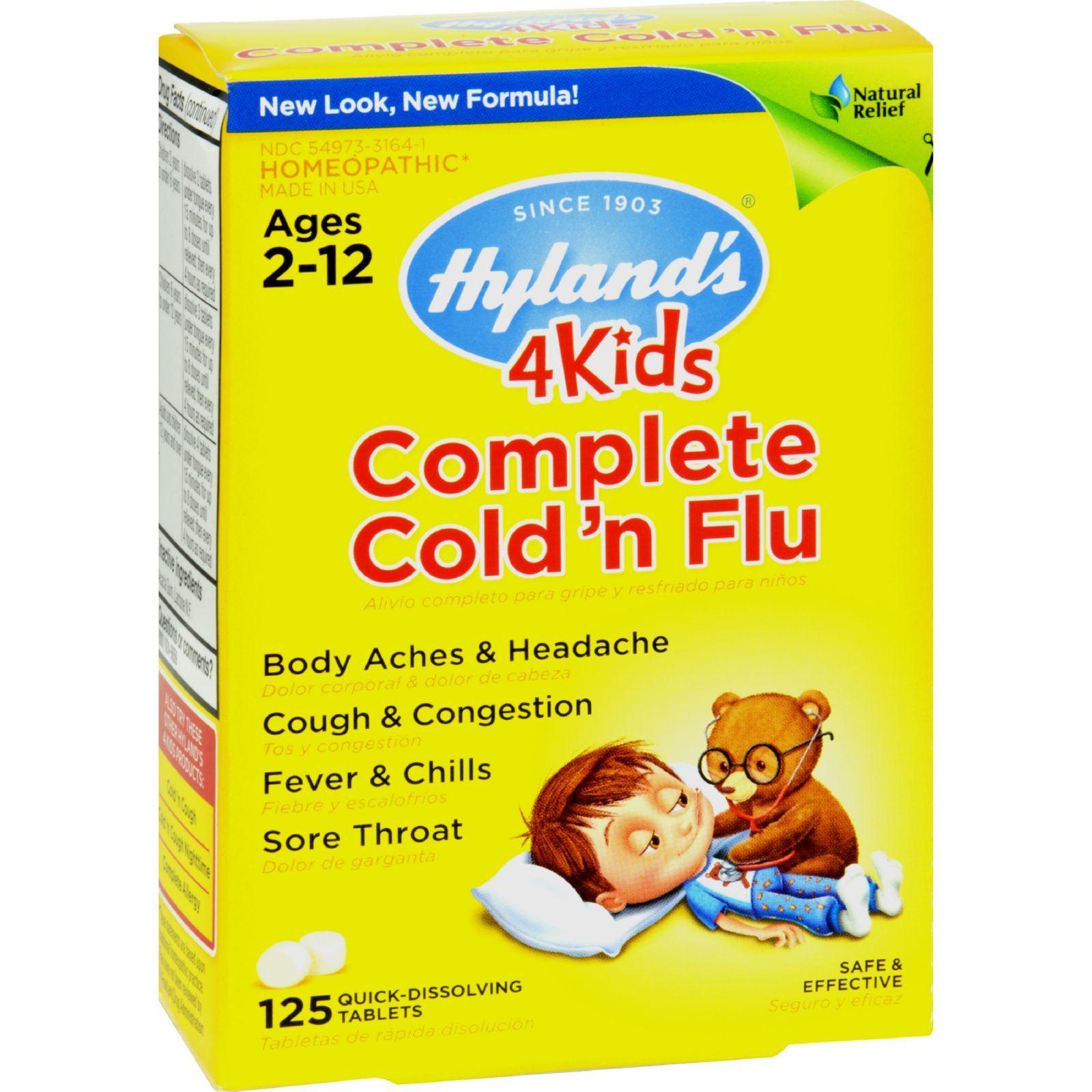 Hylands Homeopathic Complete Flu Care 4 Kids - 125 Tablets