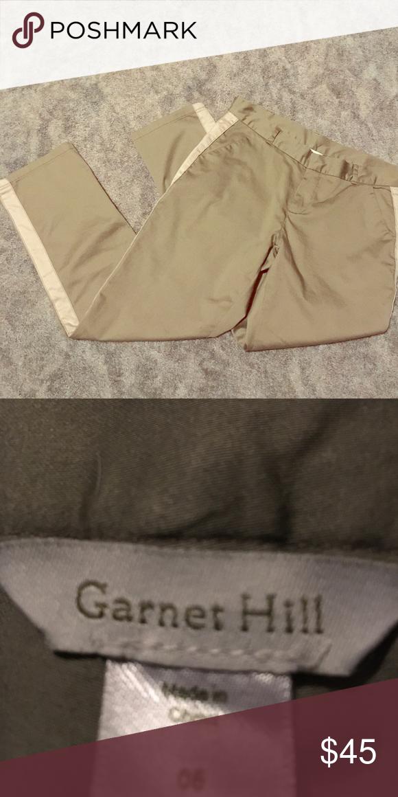 Garnet Hill capris Tuxedo stripes make these chinos fancy Garnet Hill Pants Capris