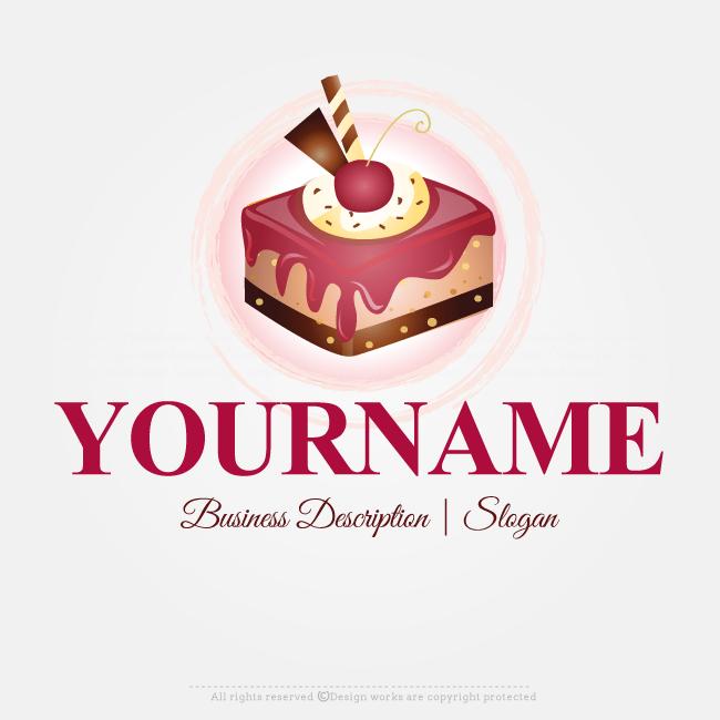 Free Logo Maker Ready Made Cake Slice Logo Design Online
