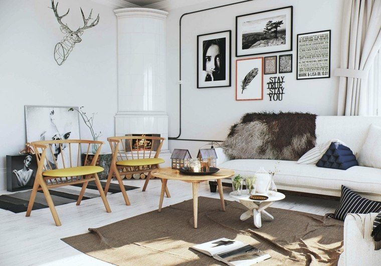 Int rieur maison 3 exemples de d coration en blanc for Decoration interieur scandinave