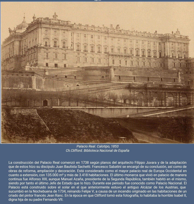 Palacio Real de Madrid. 1853.
