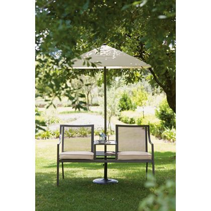 Rimini Garden Furniture Companion Set With Parasol At Homebase    Be  Inspired And Make Your