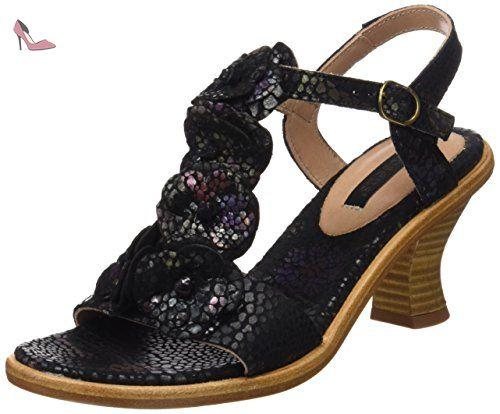 floral S982 Femme Strap Sandals Noir Fantasy Neosens T Negreda pxg86qqU