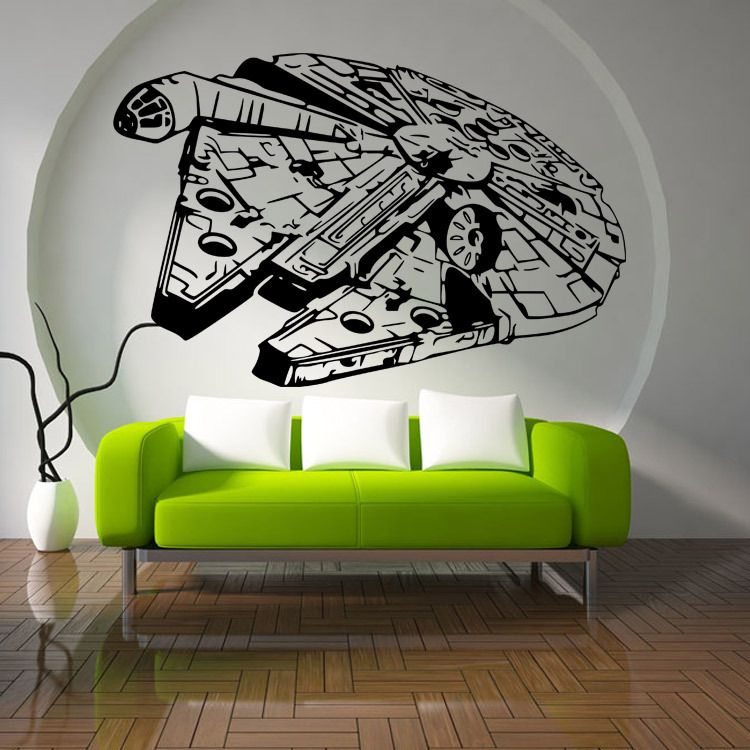 Spaceship Child Room Wall Stickers For Kids Room Boy Bedroom Wall
