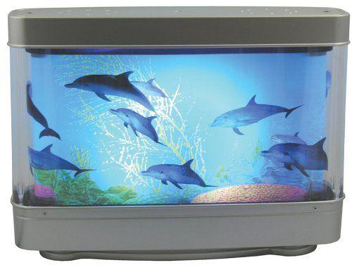 Aquarium Lamp With Dolphins Ocean In Motion Revolving Aquatic