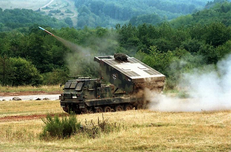 "Light similarities also exist for rocket launchers ""Mars"": The ""medium artillery rocket system"" rolls but on the base of the US infantry fighting vehicle ""M2 Bradley""."