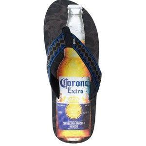 Corona Mens Flip Flop Beer Bottle Design Sandal