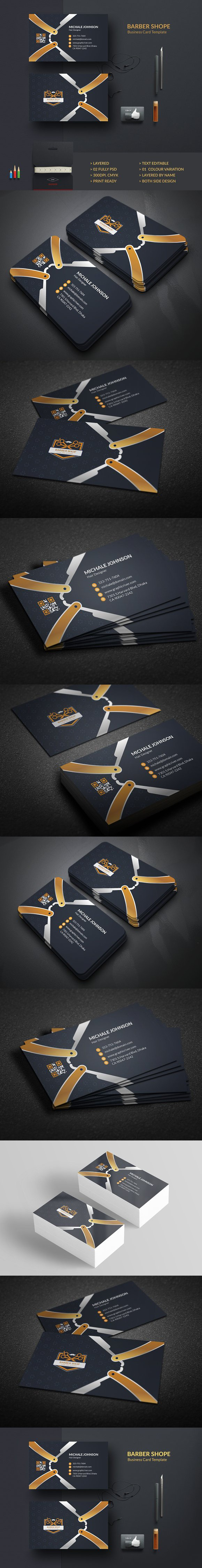 Barber Business Card Business Card Templates