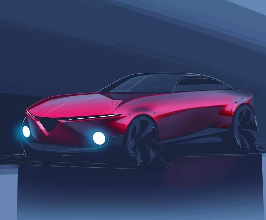 Alfa coupé. . . . . . #transportdesign #hotroadnews #cardesigndaily #cardesignsketch #simkom #cardesignerscommunity #carbodydesign…