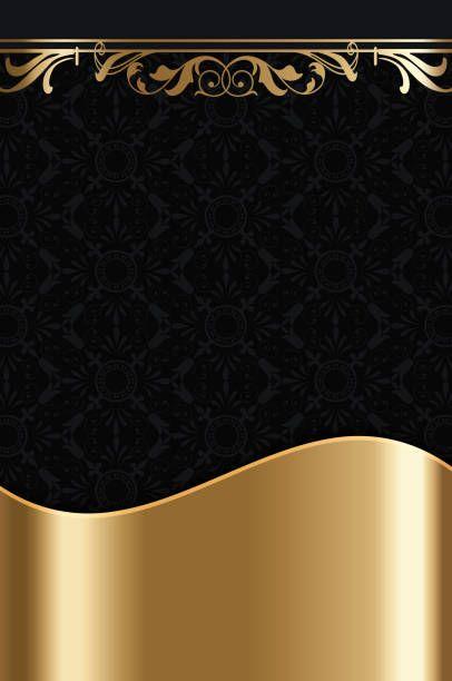 Black And Gold Vintage Background Background Vintage Black Phone Background Gold Foil Background