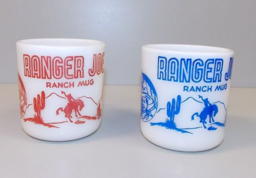 Set of Two Ranger Joe Anchor Hocking Mugs