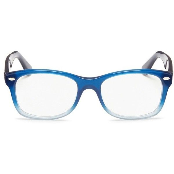 23f5908222 Ray-Ban Junior square frame ombré acetate optical glasses ( 130) ❤ liked on  Polyvore featuring accessories