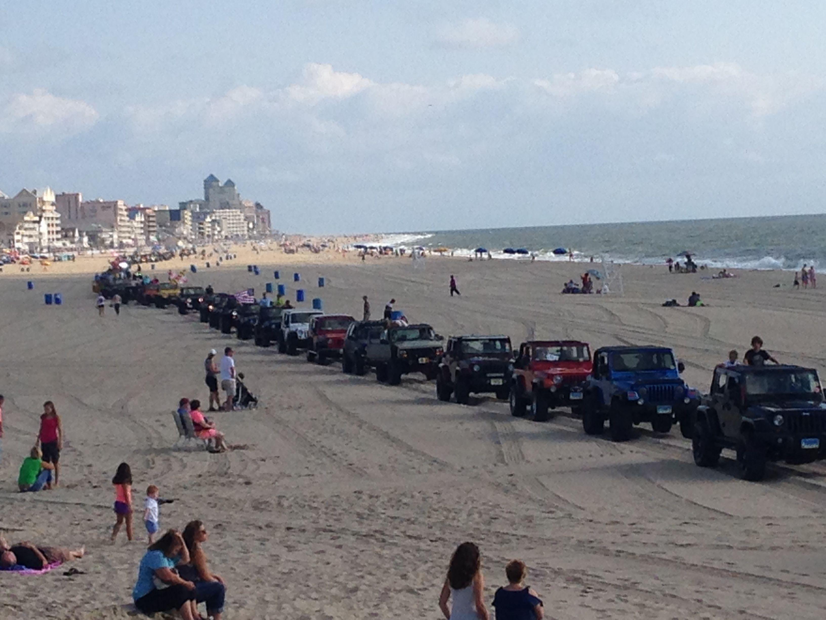 Ocean City Jeep Beach Crawl Ocean City Really Cool Photos Beach