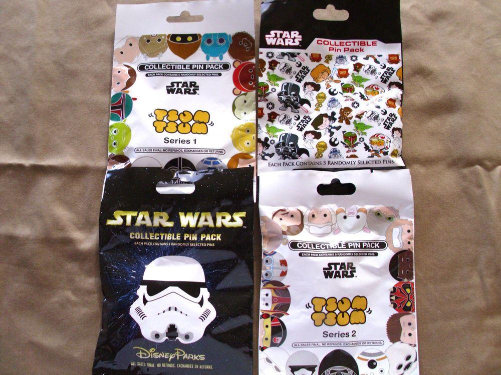 TSUM TSUM SERIES #1-5 NEW 5-pin Mystery Pack Pins 1 EACH Disney 5 PACKS