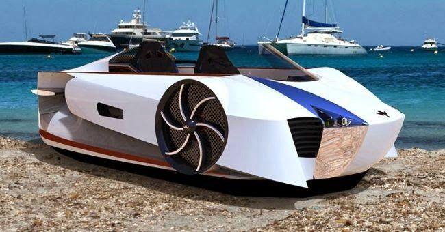 Ultra Tendencias: Supercraft de Mercier Jones, vehículo superdeportivo de lujo por tierra y mar