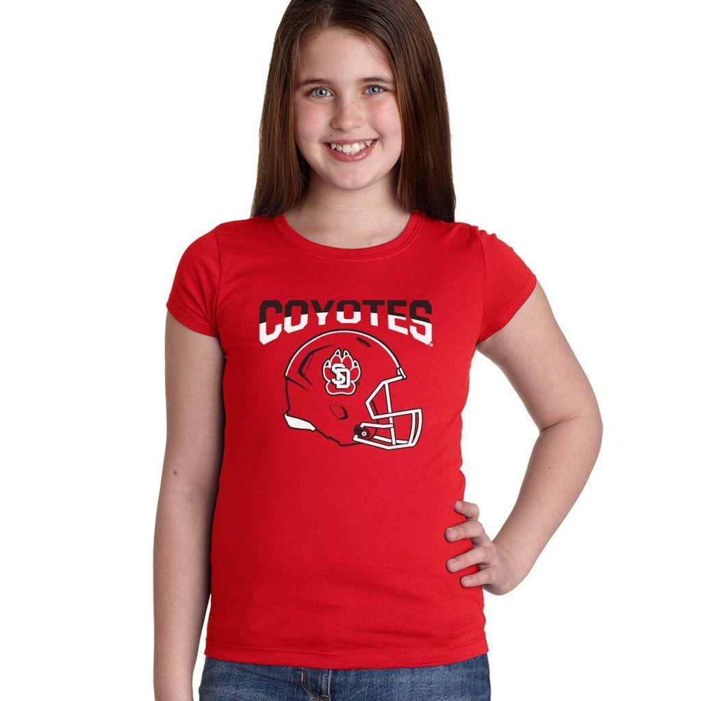 size 40 88996 b527b South Dakota Coyotes Girls Tee Shirt - USD Football Helmet ...