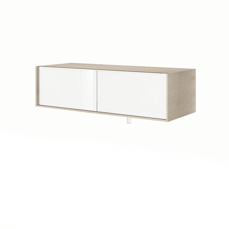 Meuble De Salle De Bains L 120 X H 32 X P 48 Cm Blanc Neo