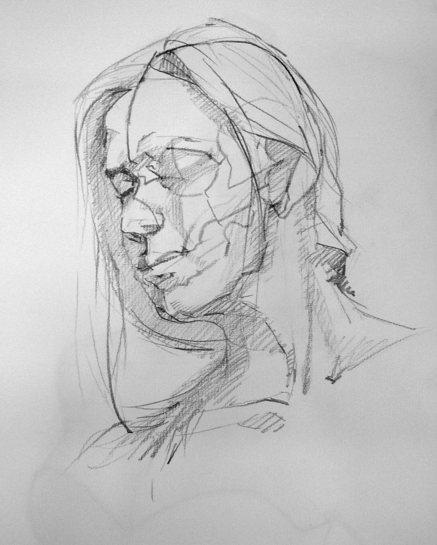 life drawing, pencil ,female model,Hench Chang 2012 | Life ...