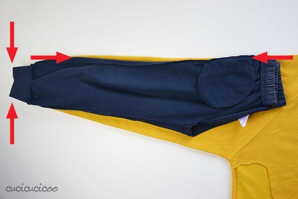 Cucito Bambini ~ Cucire pantaloni per bambini da felpe refashion cucire