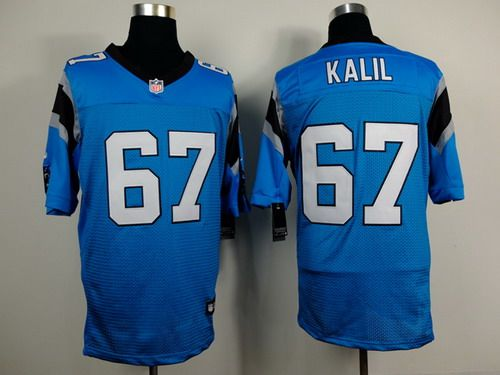 nike panthers ryan kalil blue alternate mens stitched nfl elite jersey and terrell suggs jersey