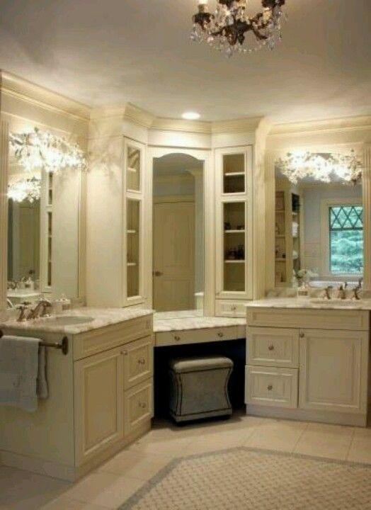 Split Vanity Off Centered Sinks Home