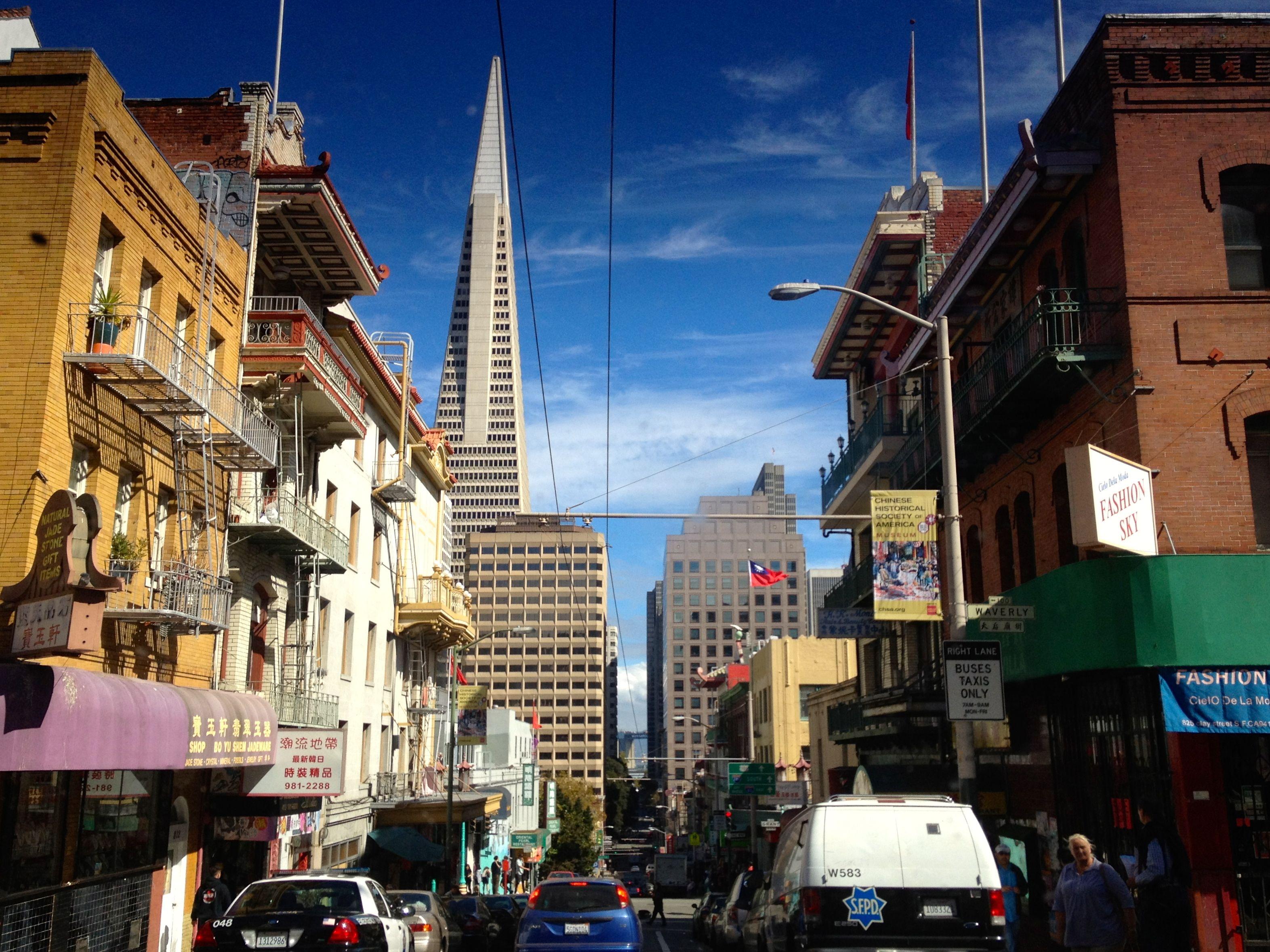 Busy street, beautiful day. I heart SF.