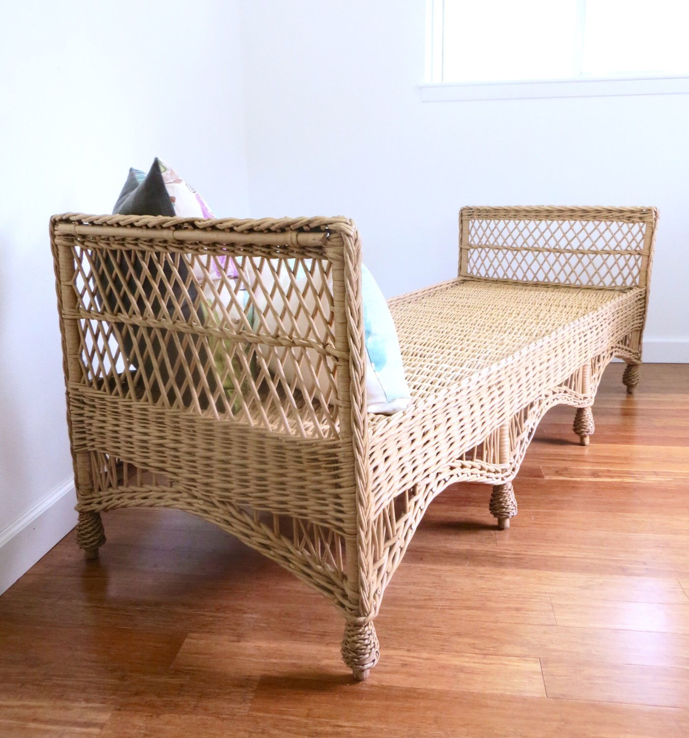 Vintage Bar Harbor Wicker Rattan Daybed Sofa Etsy or Chairish