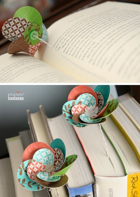 These are designed as bookmarks, but they'd probably look really pretty in a bunch in a vase, too.