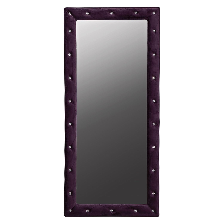 Layla Purple Kids Furniture Floor Mirror | Furniture.com | Bradina\'s ...