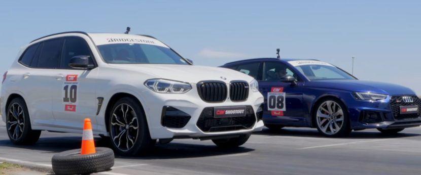 Video Bmw X3 M Competition Versus Audi Rs4 Avant Drag Race Bmw X3 Bmw Audi Rs4