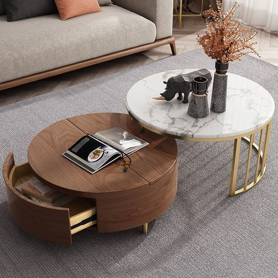 35+ Modèle de table basse centrale pour le salon