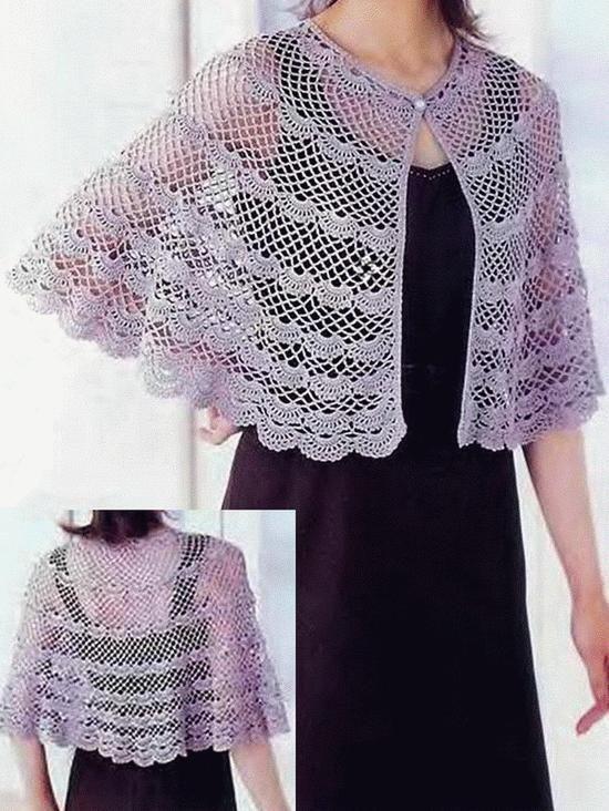 crochet shawls crochet crochet cape pattern classic. Black Bedroom Furniture Sets. Home Design Ideas