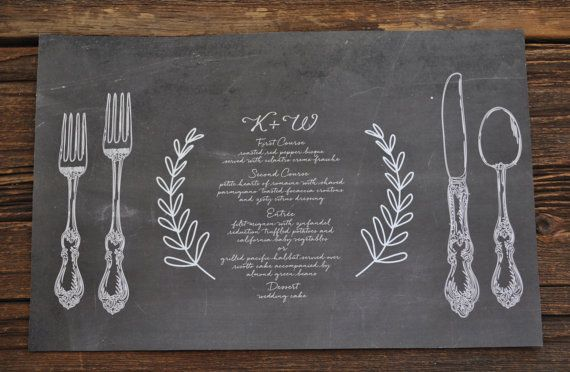 Your Place To Buy And Sell All Things Handmade Chalkboard Placemats Personalised Placemats Chalkboard Wedding