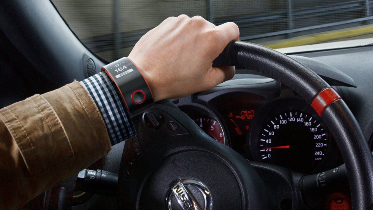 Nissan has unveiled the first smartwatch concept to