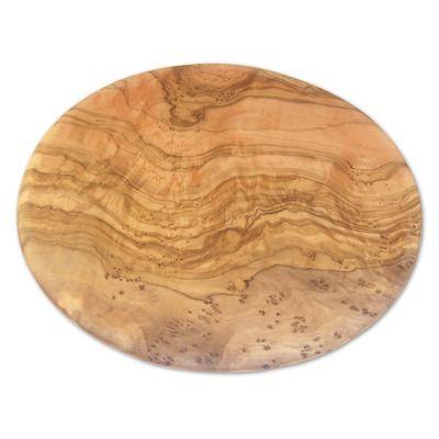 Berard France Olive Wood Round Cutting Board