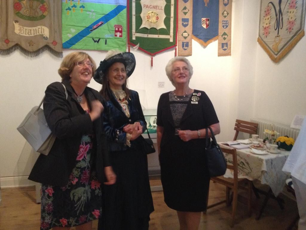 Lovely to welcome our Bucks High Sheriff for tea and a viewing of the WI exhibition