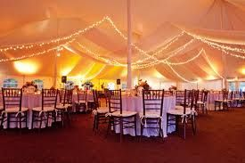 Reception Tent Fake Roll Out Carpeting With Hard Dance Floor Square Strung Lighting White Linens Party Tent Rentals Party Tent Tent Wedding