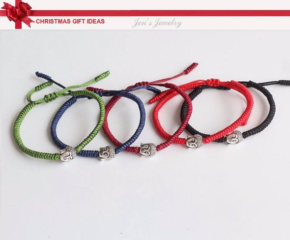 5275c4977e Original and Classic Multi Color with Beads Buddhism Handmade Knot Lucky  Rope Bracelet RB009