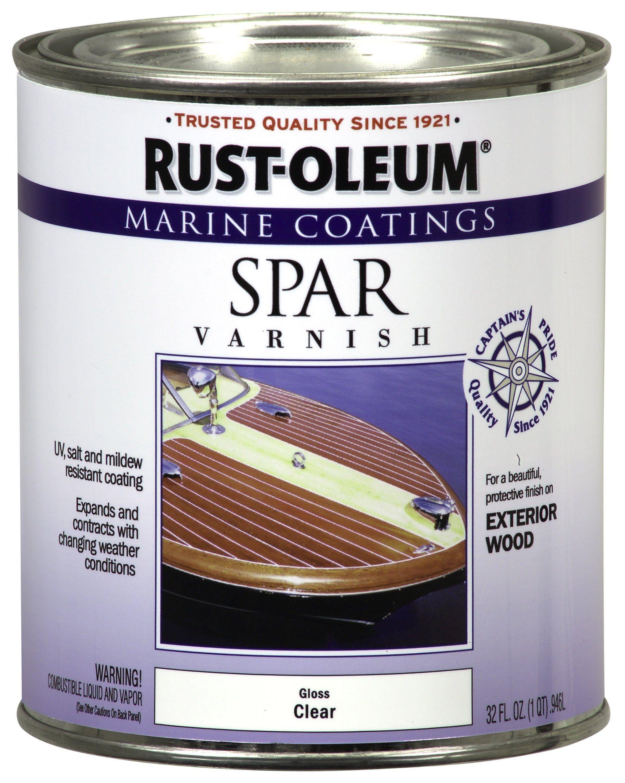 Rust Oleum 207008 Marine Spar Varnish 1 Quart Household