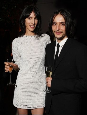 Jamie Bochert and Olivier Theyskens at the Council of Fashion Designers of America (CFDA)/ Vogue Fashion Fund Dinner.    Jamie is wearing the Theyskens' Theory Spring '13 Dified Fwiss Embroidery Dress in White, the Emke Andio Shoes in Black and and the Acap Clutch in Black.    Make-up by Neil Young, Senior Artist, MAC Cosmetics.  Hair by Noelle Chen of Kérastase Paris.