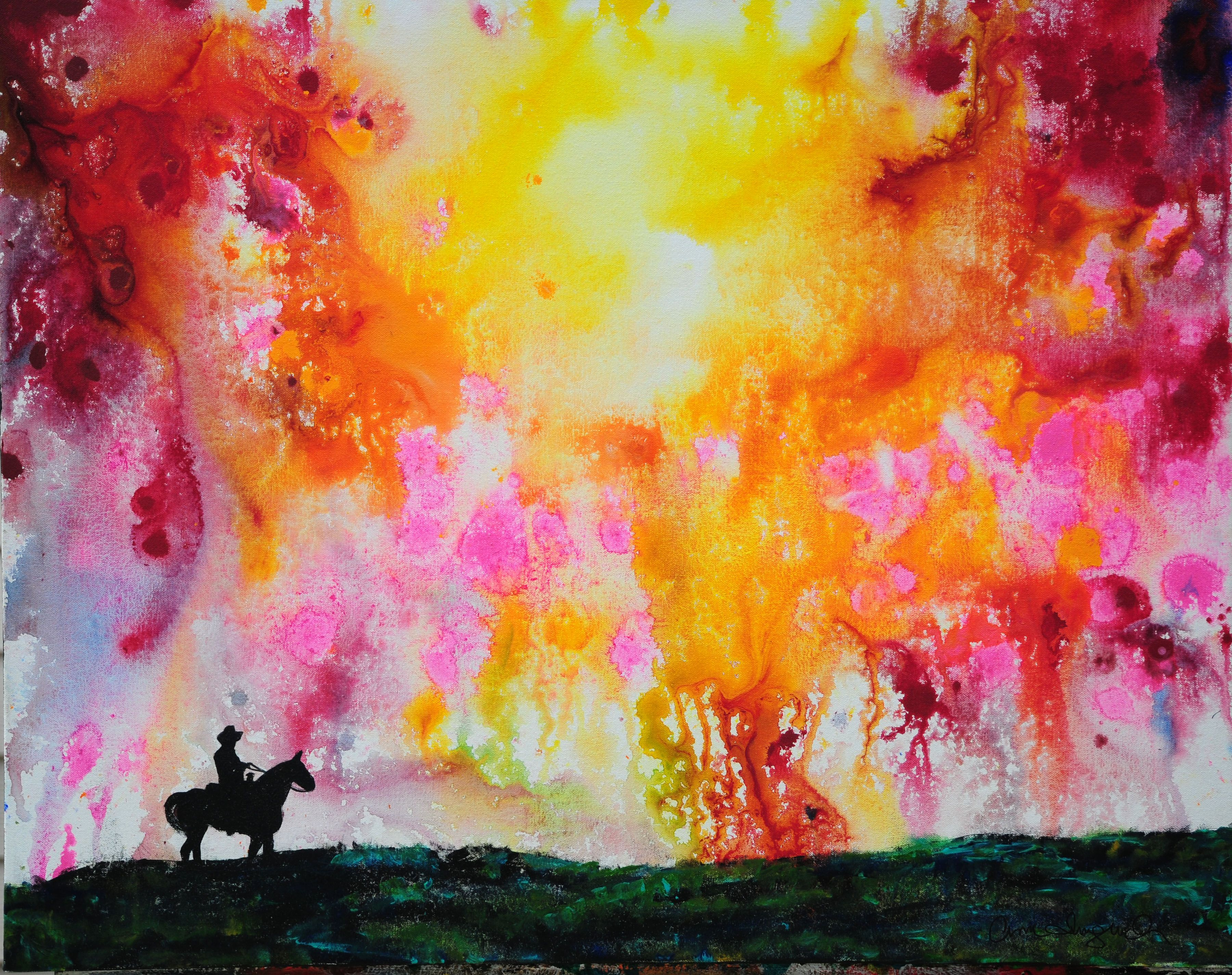 Explosion of Colors in the Western Sky Artwork, Painting