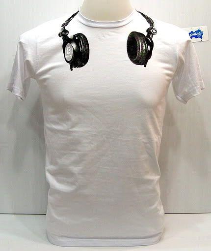 SMILE HEADPHONES MENS T SHIRT FUNNY MUSIC DJ DANCE HOUSE VINYL RAVE MIX GIFT