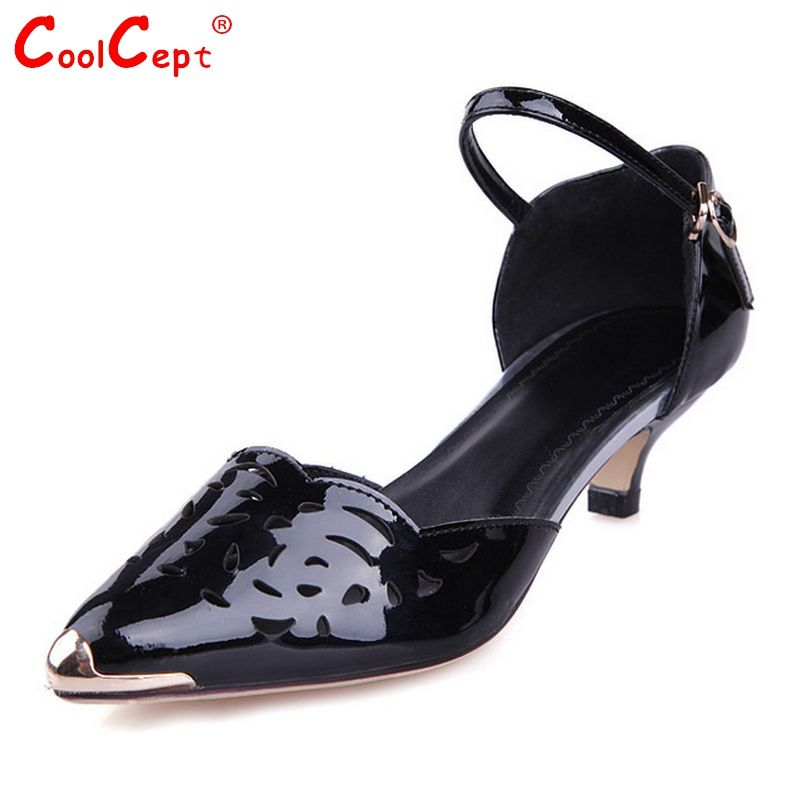 (Buy here: http://appdeal.ru/zp5 ) women real genuine leather stiletto metal toe party high heel sandals brand sexy fashion heeled ladies shoes size 34-40 R6010 for just US $75.45